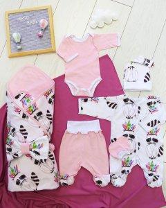 0311ИР Комплект для новорожденного Индейцы (розовый) 2